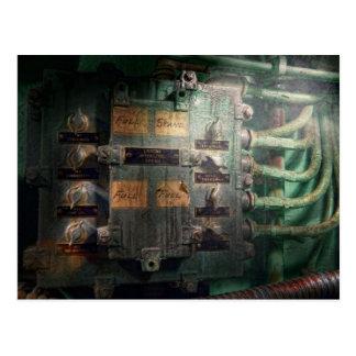 Steampunk - Naval - Lighting control panel Postcard