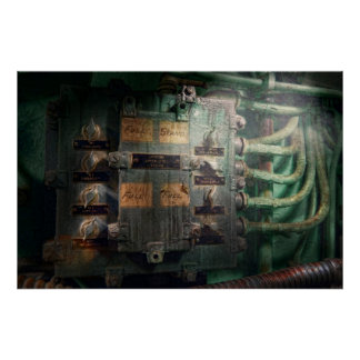 Steampunk - Naval - Lighting control panel Poster