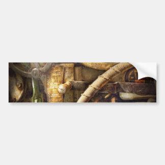 Steampunk - naval - mire la profundidad pegatina de parachoque