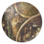 Steampunk - naval - mire la profundidad plato para fiesta