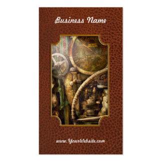 Steampunk - naval - mire la profundidad tarjetas de visita