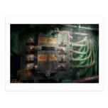 Steampunk - naval - panel de control de iluminació postales