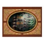 Steampunk - naval - panel de control de iluminació postal