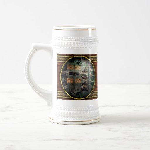 Steampunk - naval - panel de control de iluminació taza de café