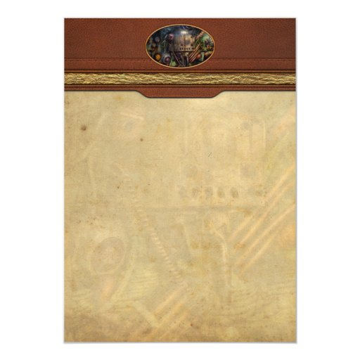 Steampunk - Naval - The comm station 5x7 Paper Invitation Card