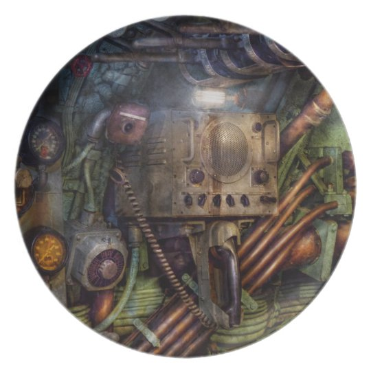 Steampunk - Naval - The comm station Melamine Plate