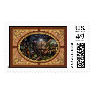 Steampunk - Naval - The comm station Postage Stamps