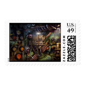 Steampunk - Naval - The comm station Postage Stamp