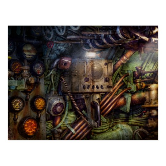 Steampunk - Naval - The comm station Postcard