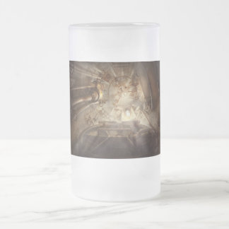 Steampunk - Naval - The escape hatch Frosted Glass Beer Mug