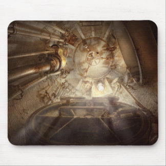 Steampunk - Naval - The escape hatch Mouse Pad