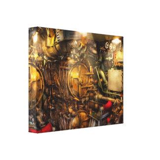 Steampunk - Naval - The torpedo room Canvas Print