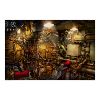Steampunk - Naval - The torpedo room Poster