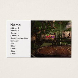 Steampunk - Naval - This is where I do my job Business Card