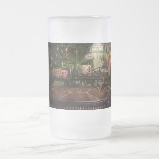 Steampunk - Naval - This is where I do my job Frosted Glass Beer Mug