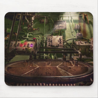 Steampunk - Naval - This is where I do my job Mouse Pad
