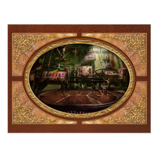 Steampunk - Naval - This is where I do my job Postcard