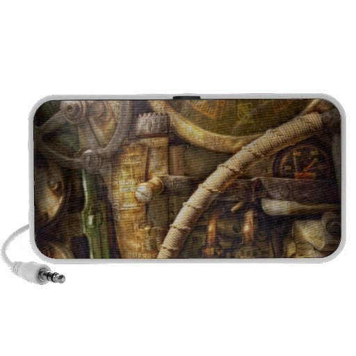 Steampunk - Naval - Watch the depth Portable Speaker