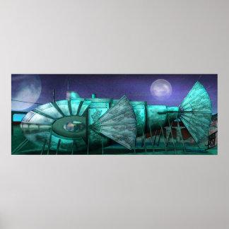 STEAMPUNK - Nave del vuelo de Nemo Impresiones