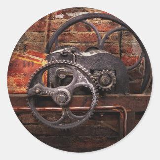 Steampunk - ningunos 10 pegatina redonda