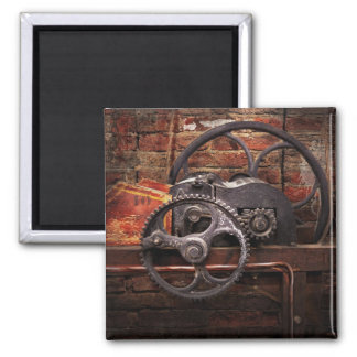 Steampunk - No 10 2 Inch Square Magnet