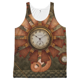 Steampunk, noble design All-Over print tank top