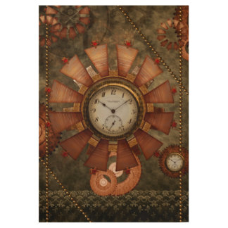 Steampunk, noble design wood poster