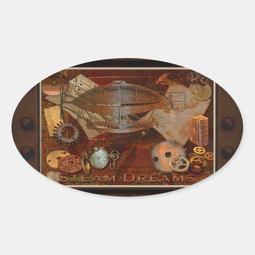 Steampunk Nostalgic Victorian Collage Art Sticker