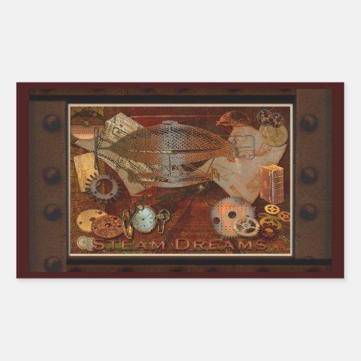 Steampunk Nostalgic Victorian Collage Art Stickers
