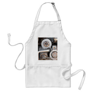 Steampunk nuts and bolts with wire adult apron