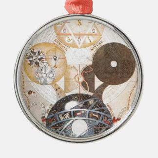 Steampunk Occult Star of David Metal Ornament