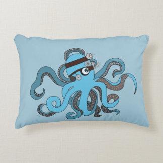 Steampunk octopus accent pillow