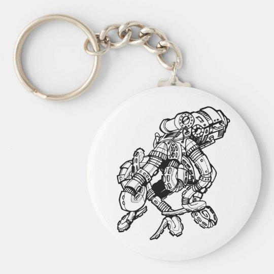 Steampunk Octopus Keychain