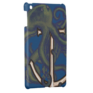 Steampunk Octopus Over Anchor iPad Mini Cover