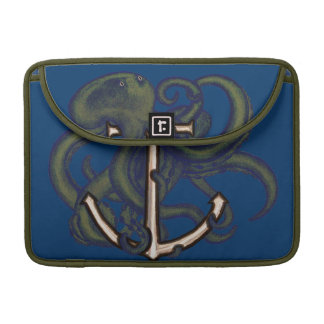 Steampunk Octopus Over Anchor MacBook Pro Sleeves