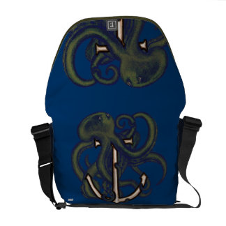 Steampunk Octopus Over Anchor Messenger Bag