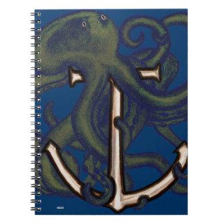 Steampunk Octopus Over Anchor Journals