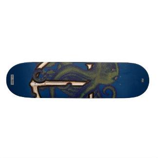Steampunk Octopus Over Anchor Skateboard Deck
