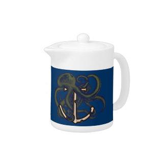 Steampunk Octopus Over Anchor Teapot