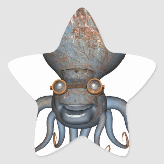 Steampunk Octopus Star Sticker