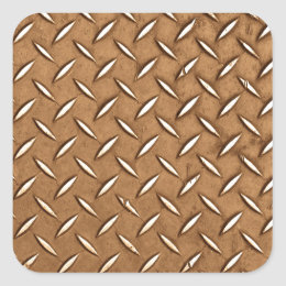Steampunk Old Brass Plating Metal Effect Square Sticker