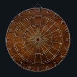 "Steampunk Old World Map &amp; Compass Rose Design Dartboard With Darts<br><div class=""desc"">The ultimate collection of Vintage World Maps including rustic and grunge style versions of our beautiful planet Earth according to Explorers and Discoverers who made history with their journeys around the globe. Classy and stylish! Enjoy throwing darts and trying to hit places you would like to explore.</div>"