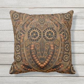 Steampunk Outdoor Throw Pillow