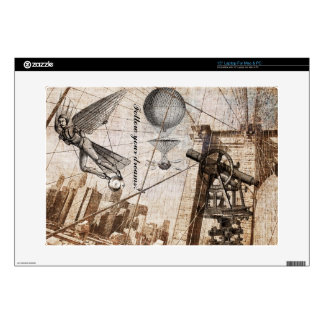 steampunk over the brooklyn bridge skin decals for laptops