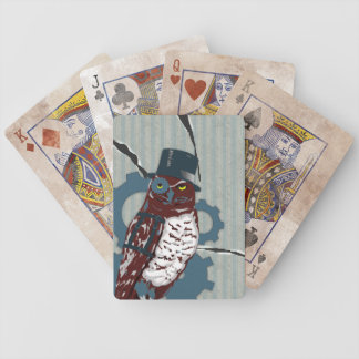 Steampunk Owl & Destroyed Mattress Playing Cards