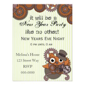 Steampunk Owl Invitations