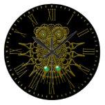 Steampunk Owl Large Clock