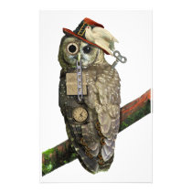 SteamPunk Owl Stationery