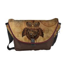 Steampunk Owl Vintage Style Messenger Bag at Zazzle
