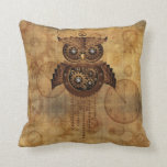 Steampunk Owl Vintage Style pillow
